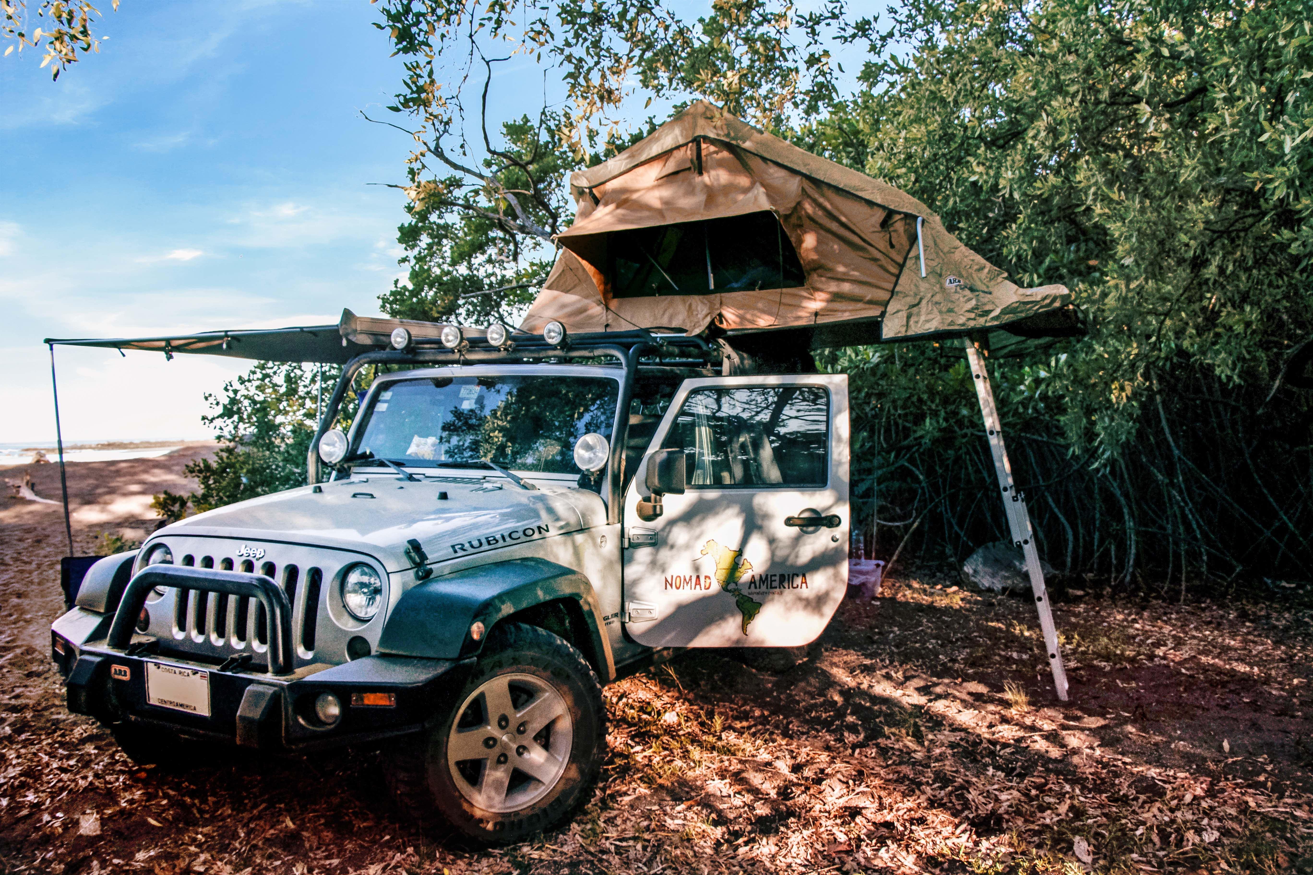 Beach Camping Sunrise Costa Rica Jeep Rentals Jeep