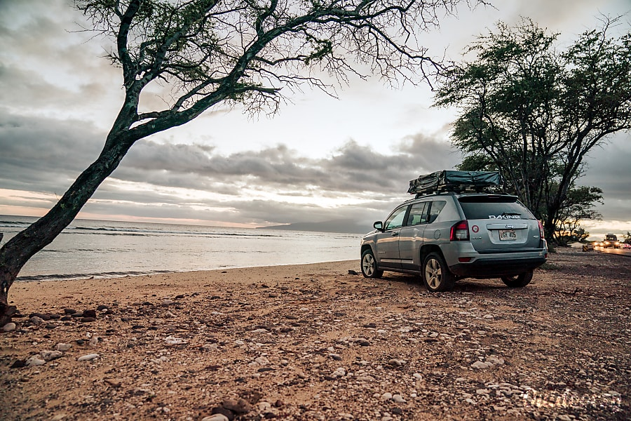 Rental Jeep Compass 4 215 4 With Rooftop Tent Maui Paia