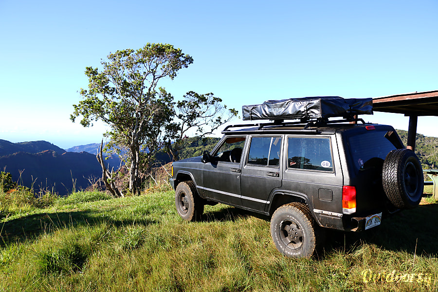 Rental Jeep Xj 4 215 4 With Roof Top Tent Lihue Hi Jeep